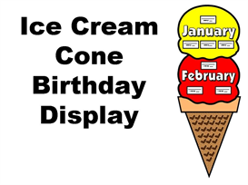 Ice Cream Birthday Display Set | Other Files | Documents and Forms