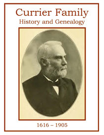 Currier Family History and Genealogy | eBooks | History