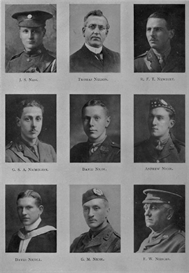 edinburgh university roll of honour 1914-1919 plate 63