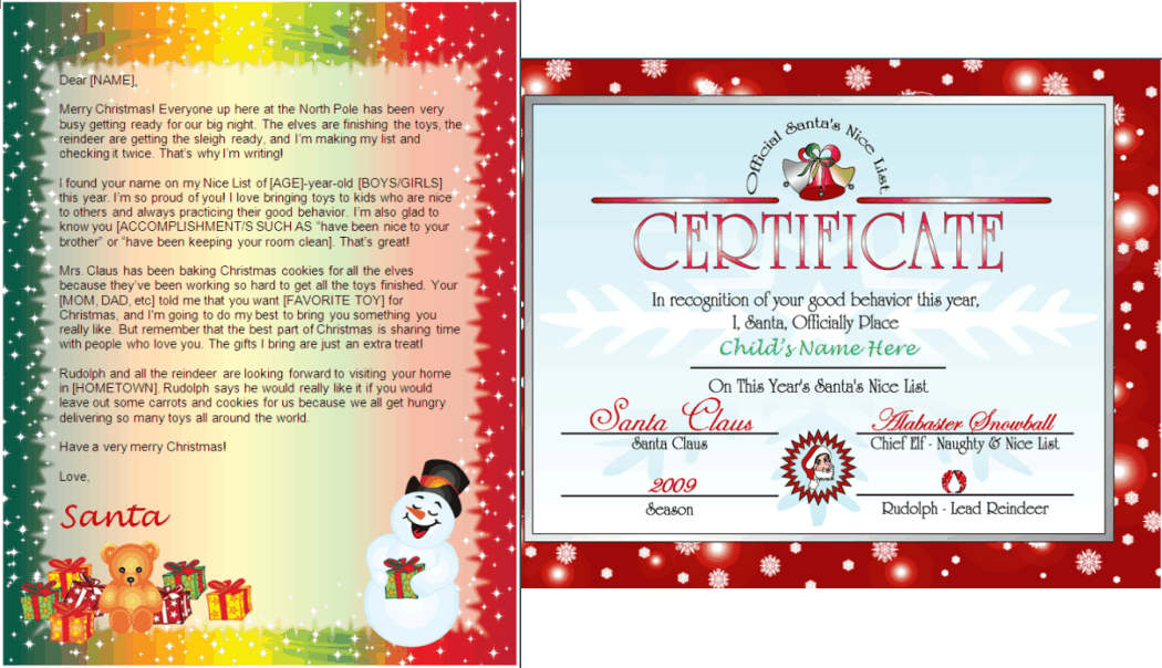 Santa letter nice list combo snowman gifts design other files santa letter nice list combo snowman gifts design other files patterns and templates yelopaper Images