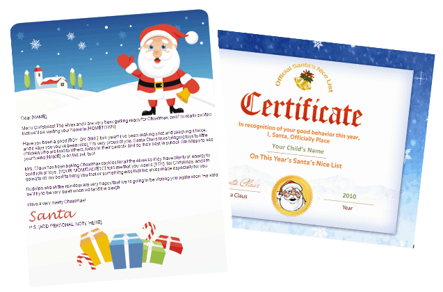 Santa Letter And Nice List Combo   Gifts Design With Santa Seal Certificate  | Other Files | Patterns And Templates With Microsoft Word Santa Letter Template