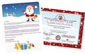 Santa Letter Combo - Santa Gifts Design with Red Nice List Certificate | Other Files | Patterns and Templates