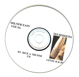 milner easy vocal techniques level1&2 cd