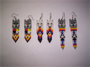 Brick Stitch Wolf Delica Seed Bead Dangle Earring Pattern | Other Files | Arts and Crafts
