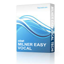 Milner Easy Vocal Techniques Level 2&3 | Software | Training