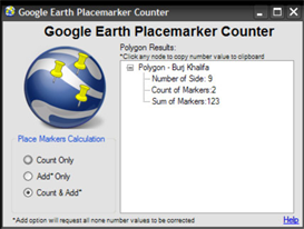 google earth point counter