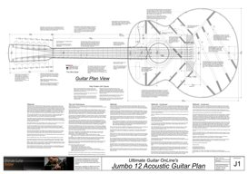 Jumbo 12 StringAcoustic Guitar Plan | Other Files | Patterns and Templates