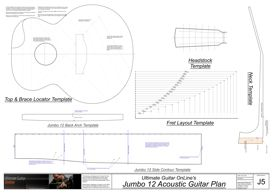 Jumbo 12 Acoustic Template Set | Other Files | Patterns and Templates