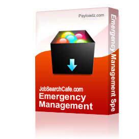 emergency management specialist cover letter