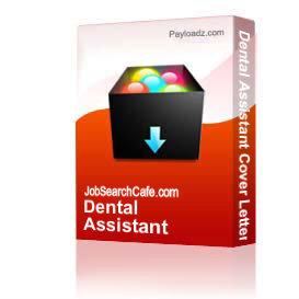 dental assistant cover letter