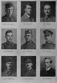 edinburgh university roll of honour 1914-1919 plate 69