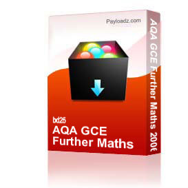 AQA GCE Further Maths 2006 | Other Files | Documents and Forms