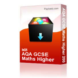 AQA GCSE Maths Higher 2004 | Other Files | Documents and Forms