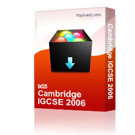 Cambridge IGCSE 2006 | Other Files | Documents and Forms