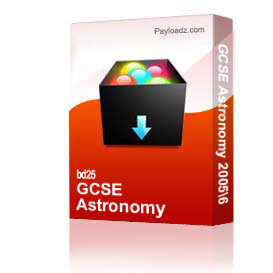 GCSE Astronomy 2005/6 | Other Files | Documents and Forms