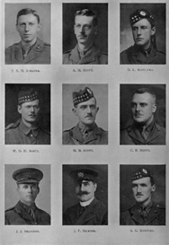 edinburgh university roll of honour 1914-1919 plate 73