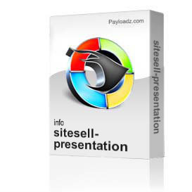 sitesell-presentation | Movies and Videos | Educational
