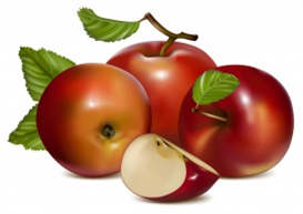 Vectorlib RF (Standard License): Vector. Apples with green leaves.