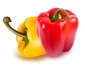 Vectorlib RF (Standard License): Ripe red and yellow peppers