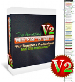 the amazing mini site template v2