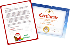 Santa Letter Combo - Claus and Reindeer with Santa Seal | Other Files | Patterns and Templates