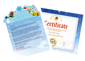 Santa Letter Combo - Merry Christmas with Santa Certificate | Other Files | Patterns and Templates