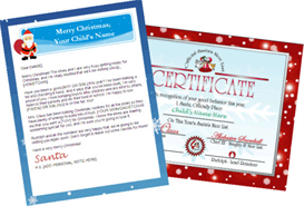 Santa Letter Combo - Personalized Banner with Red Nice List | Other Files | Patterns and Templates