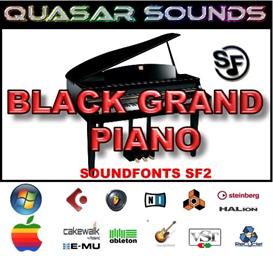 Black Grand Piano Soundfont Instrument | Music | Soundbanks