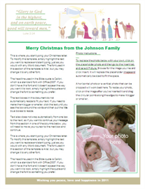 Christmas Letter Template - Nativity | Other Files | Patterns and Templates
