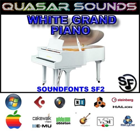 White Grand Piano Soundfont Instrument | Music | Soundbanks