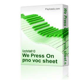 We Press On pno voc sheet music | Music | Children