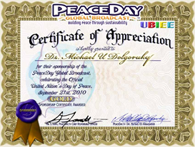 Gold PEACE Certificate of Appreciation | Other Files | Photography and Images