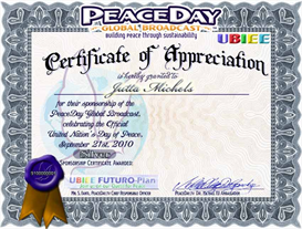 Siver PEACE Certificate of Appreciation | Other Files | Photography and Images