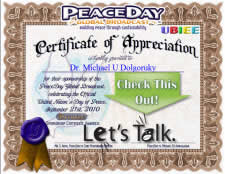First Additional product image for - Bronze PEACE Certificate of Appreciation