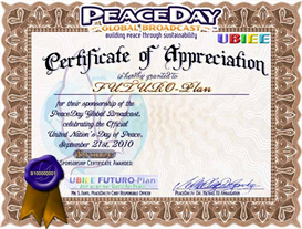 Bronze PEACE Certificate of Appreciation | Other Files | Photography and Images