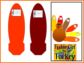Treble Clef Turkey | Other Files | Patterns and Templates