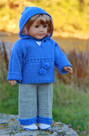DollKnittingPattern 0049D KATHY - Sweather, Blouse, Hat, Shoes and Pant | Crafting | Knitting | Baby and Child