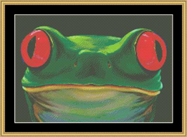 The Many Faces - Frog Cross Stitch Download | Crafting | Cross-Stitch | Other