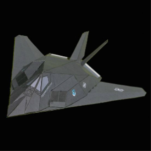 Paper F-117 Nighthawk | Crafting | Paper Crafting | Paper Models