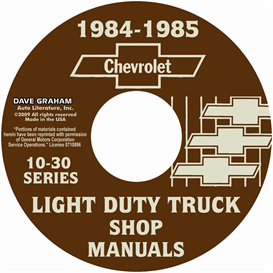 1984-1985 Chevrolet Truck Shop Manuals | eBooks | Automotive