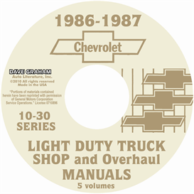 1986-1987 Chevrolet Truck Shop Manuals | eBooks | Automotive