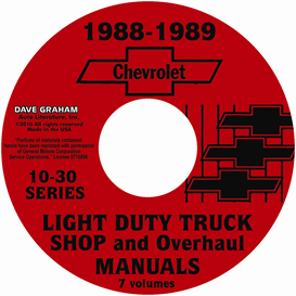 1988-1989 Chevrolet Truck Shop Manuals | eBooks | Automotive