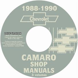 1988-1990 chevrolet camaro shop manuals
