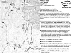 outlaw trail sedona arizona 4x4 jeep bw printable pdf map