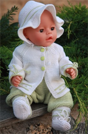 DollKnittingPattern - 0047D RENATE - Cardigan, Bonnet, Baby Suit and Socks | Other Files | Arts and Crafts