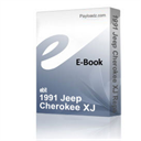1991 Jeep Cherokee XJ Repair Service Manual