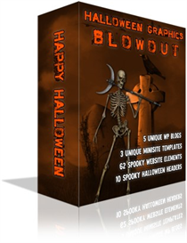 Halloween Graphics Blowout Minisites Headers Wordpress Themes RESELL | Software | Design Templates