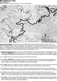 Woodchute Trail Jerome Arizona 4x4 Jeep BW printable PDF map | eBooks | Outdoors and Nature