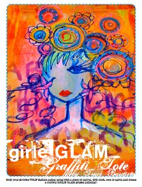 girlie GLAM graffiti tote by traci bautista project sheet | Other Files | Arts and Crafts