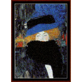 lady with hat - klimt cross stitch pattern by cross stitch collectibles